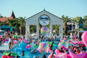 Beaches ending Floatopia party
